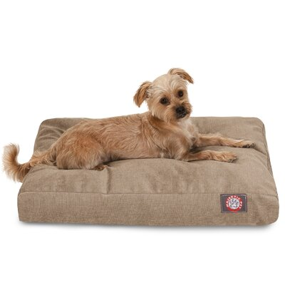 Villa Rectangle Pet Bed Size: Extra Small (20 L x 27 W), Color: Pearl