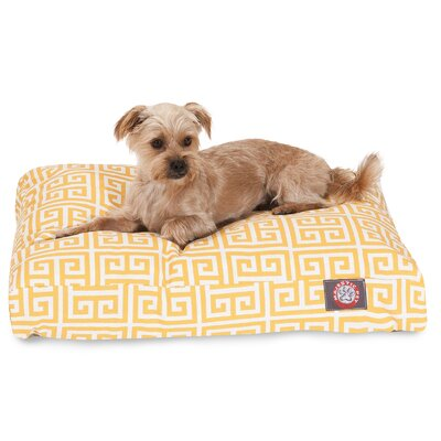 Angela Pet Bed Size: Small (36 W x 29 D), Color: Orange