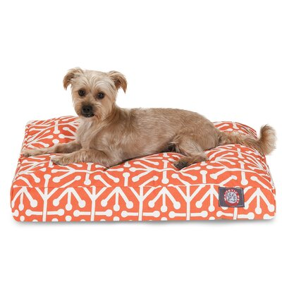 Aruba Rectangle Pet Bed Color: Orange, Size: Extra Small