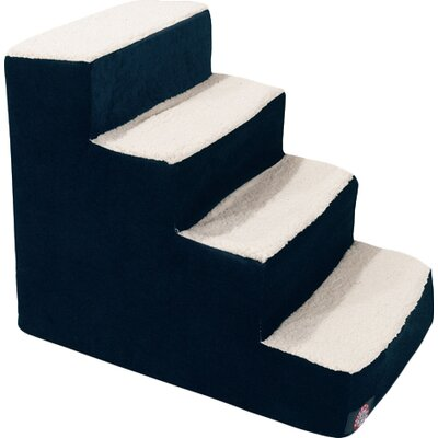 Villa 4 Step Pet Stairs Color: Navy