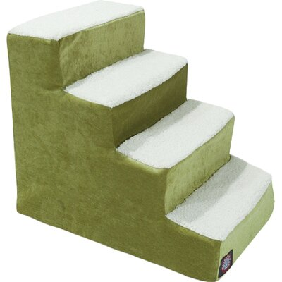 Villa 4 Step Pet Stairs Color: Apple