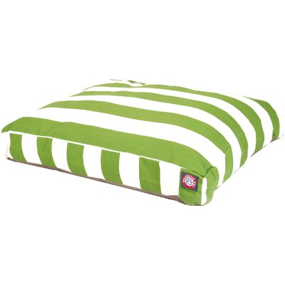 Vertical Stripe Pillow Dog Bed Color: SMediumallage, Size: Extra Small (20 W x 27 D)