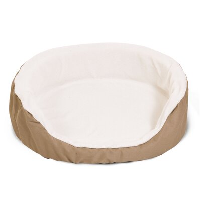 Lounger Orthopedic Nest Pillow Dog Bed Color: Khaki, Size: Medium (28 L x 21 W)