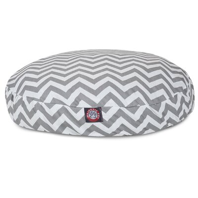 Zig Zag Round Pet Bed Size: Medium (36 W x 36 D), Color: Grey