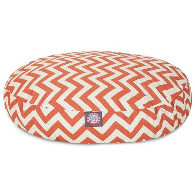 Zig Zag Round Pet Bed Color: Burnt Orange, Size: Large (42 W x 42 D)