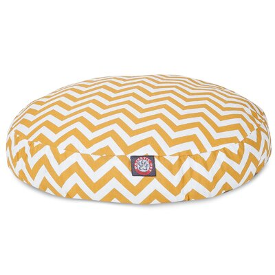 Zig Zag Round Pet Bed Size: Large (42 W x 42 D), Color: Yellow