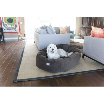 Bagel Donut Dog Bed Size: Small (7 H x 22 W), Color: Chocolate