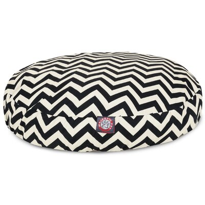 Zig Zag Round Pet Bed Size: Medium (36 W x 36 D), Color: Black