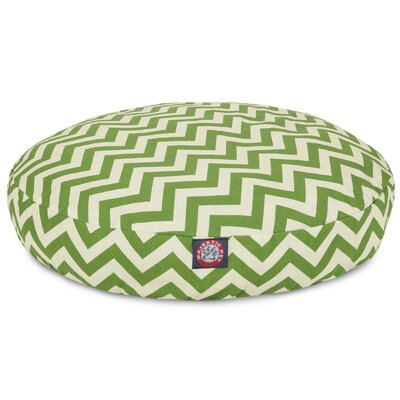 Zig Zag Round Pet Bed Size: Medium (36 W x 36 D), Color: Sage