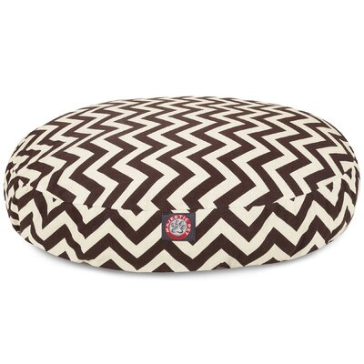 Zig Zag Round Pet Bed Size: Medium (36 W x 36 D), Color: Chocolate
