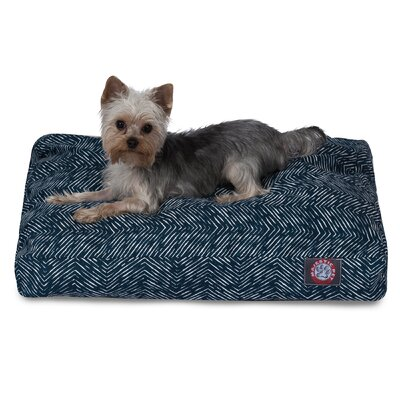 Navajo Pillow Dog Bed Color: Navy Blue, Size: Extra Small (20 L x 27 W)