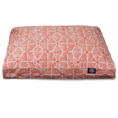 Charlie Rectangle Pet Bed with Waterproof Denier Base Color: Salmon, Size: Medium (36 L x 29 W)