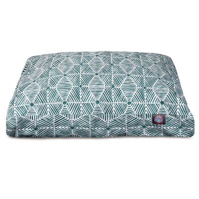 Charlie Rectangle Pet Bed with Waterproof Denier Base Size: Large (44 L x 36 W), Color: Emerald