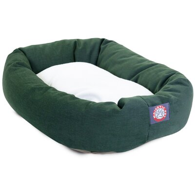 Patrice Pillow Pet Bed Size: Medium (32 H x 23 W), Color: Green