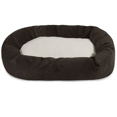 Villa Sherpa Bagel Bed Size: Extra Large (52 L x 35 W), Color: Storm