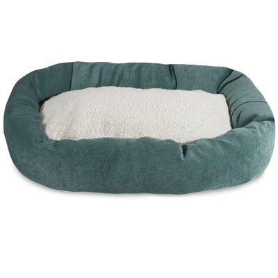 Villa Sherpa Bagel Bed Size: Small (24 L x 19 W), Color: Azure