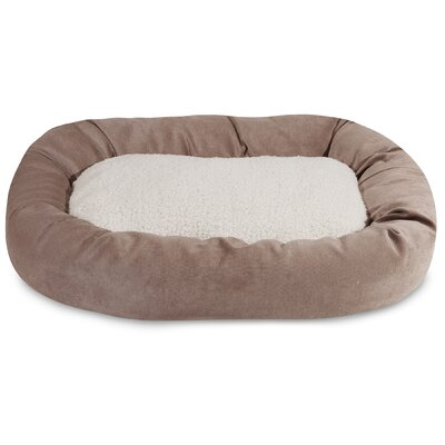 Villa Sherpa Bagel Bed Size: Large (40 L x 29 W), Color: Pearl