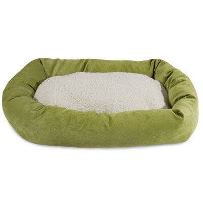 Villa Sherpa Bagel Bed Size: Extra Large (52 L x 35 W), Color: Apple - Green