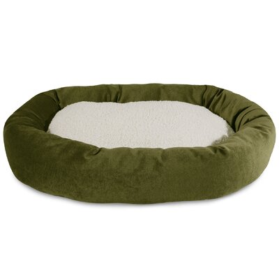 Villa Sherpa Bagel Bed Size: Large (40 L x 29 W), Color: Fern