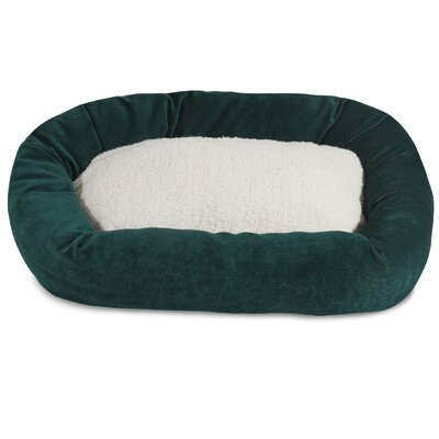 Villa Sherpa Bagel Bed Size: Small (24 L x 19 W), Color: Marine