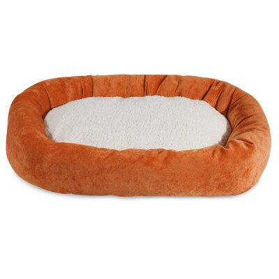 Villa Sherpa Bagel Bed Size: Small (24 L x 19 W), Color: Orange