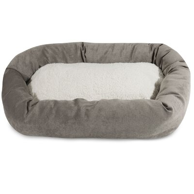 Villa Sherpa Bagel Bed Size: Large (40 L x 29 W), Color: Vintage