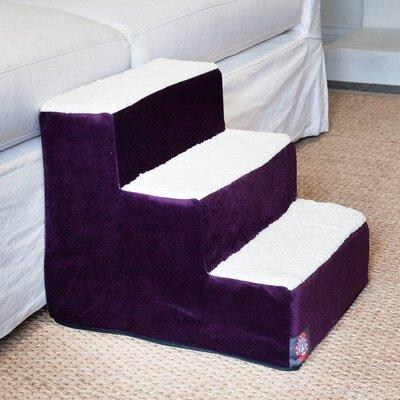 Villa 3 Step Pet Stair Color: Aubergine