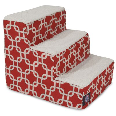 Links 3 Step Pet Stair Color: Red