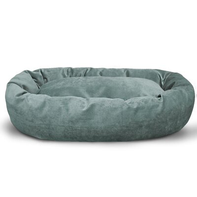 Suede Bagel Bolster Dog Bed Size: Small (24 W x 19 D x 7 H), Color: Azure