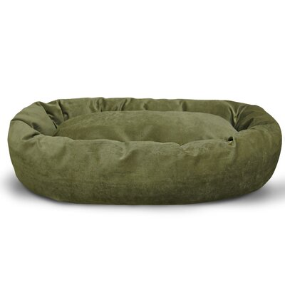 Suede Bagel Bolster Dog Bed Size: Small (24 W x 19 D x 7 H), Color: Fern