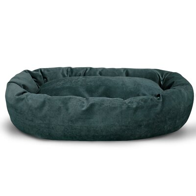 Suede Bagel Bolster Dog Bed Size: Small (24 W x 19 D x 7 H), Color: Marine