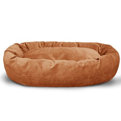 Suede Bagel Bolster Dog Bed Size: Medium (32 W x 23 D x 7 H), Color: Orange