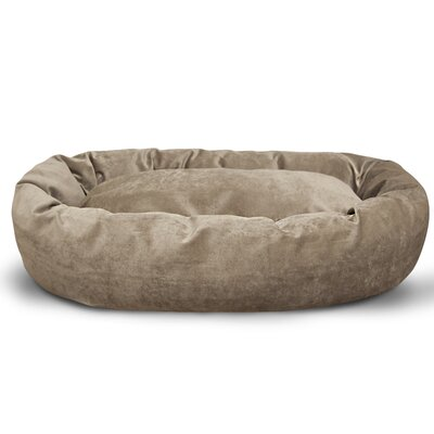 Suede Bagel Bolster Dog Bed Size: Large (40 W x 29 D x 9 H), Color: Pearl