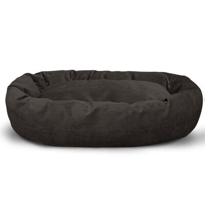 Suede Bagel Bolster Dog Bed Size: Medium (32 W x 23 D x 7 H), Color: Storm
