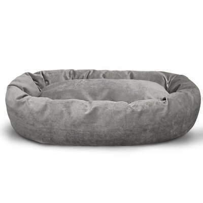 Suede Bagel Bolster Dog Bed Size: Large (40 W x 29 D x 9 H), Color: Vintage
