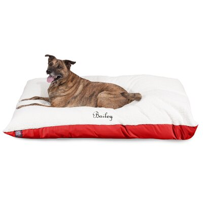 Pillow Dog Bed Size: Small (40 W x 30 D x 8 H), Color: Red