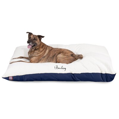 Pillow Dog Bed Size: Small (40 W x 30 D x 8 H), Color: Blue