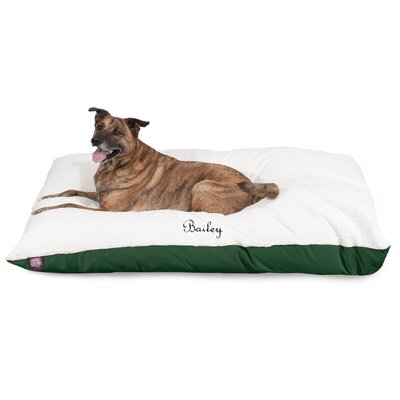 Pillow Dog Bed Size: Large (60 W x 42 D x 8 H), Color: Green