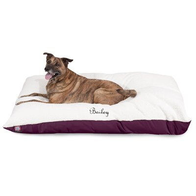Pillow Dog Bed Size: Small (40 W x 30 D x 8 H), Color: Burgundy