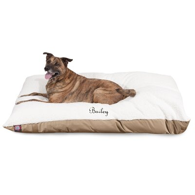 Pillow Dog Bed Size: Medium (48 W x 36 D x 8 H), Color: Khaki