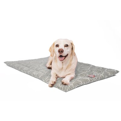 Charlie Salmon Dog Mat Size: 26 W x 42 D x 2 H, Color: Metallic/White