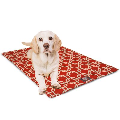 Links Dog Mat Size: 18 W x 24 D x 2 H, Color: Red/White