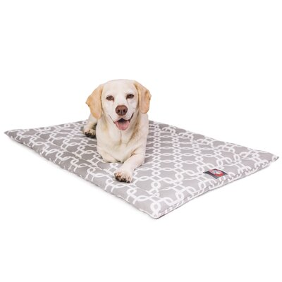 Links Dog Mat Size: 26 W x 42 D x 2 H, Color: Gray/White