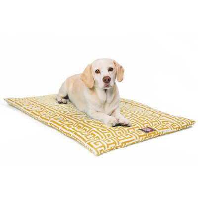 Towers Citrus Dog Mat Size: 18 W x 24 D x 2 H, Color: Yellow/White