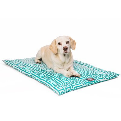 Towers Citrus Dog Mat Size: 26 W x 42 D x 2 H, Color: Blue/White