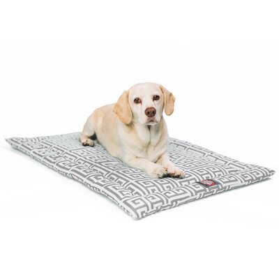 Towers Citrus Dog Mat Size: 26 W x 42 D x 2 H, Color: Gray/White