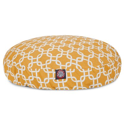 Links Round Pet Bed Size: Medium (36 W x 36 W), Color: Yellow