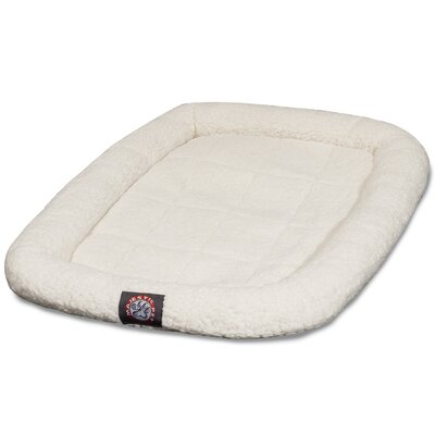 Cotton Crate Donut Dog Bed Color: Sherpa, Size: Intermediate (36 L x 23 W)
