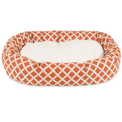 Bamboo Sherpa Bagel Pet Bed Size: Large (40 W x 29 D), Color: Burnt Orange