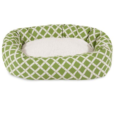 Bamboo Sherpa Bagel Pet Bed Size: Large (40 W x 29 D), Color: Sage